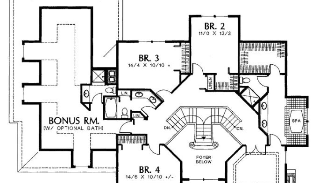 House Plans With Grand Staircase 15 Best Dual Staircase House Plans