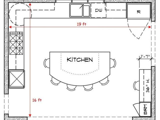 House Plans with Large Kitchen island 17 Best Ideas About ...