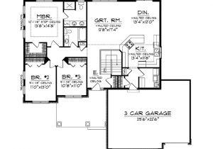 House Plans with No formal Dining Room or Living Room Ranch Home Plans No formal Dining Room Level 1 View