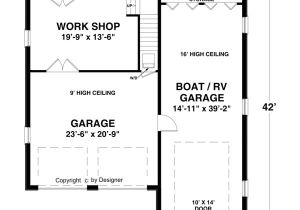 House Plans with Rv Storage Boat Rv Garage 1753 1 Bedroom and 1 5 Baths the House