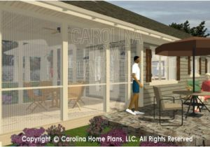 House Plans with Screened Back Porch 3d Images for Chp Sg 1248 Aa Small Country Ranch 3d