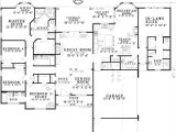 House Plans with Separate Inlaw Suite Plan W59679nd Open Living with In Law Suite E