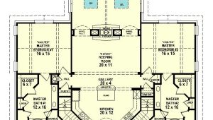House Plans with Two Master Suites On Main Floor Dual Master Suites 58566sv 1st Floor Master Suite Cad