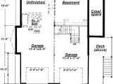 House Plans with Unfinished Basement C 511 Unfinished Basement Floor Plan From