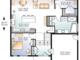 House Plans with Unfinished Basement W3288 V1 Scandinavian Inspired House Plan Open Floor