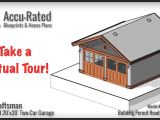 House Plans with Virtual tours Accu Rated Blueprints House Plans Craftsman Two Car