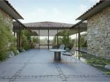 Houses with Courtyards Design Plans Single Story Modern Cottage In israel