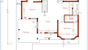 In Ground Home Plans 3 Bedroom Home Plan and Elevation Kerala Home Design and