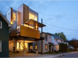 Innovative Home Plans Innovative Front to Back Infill House Creates Two Separate