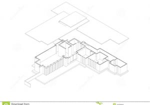 Isometric Drawing House Plans Jacobs 39 House Exploded isometric Drawing Stock Vector