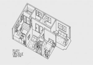 Isometric Drawing House Plans Plan Oblique and isometric Technical Drawings