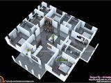 Kerala 3d Home Floor Plans 3d Floor Plan and 3d Elevation Kerala Home Design and