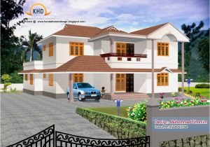 Kerala 3d Home Floor Plans 5 Beautiful Home Elevation Designs In 3d Kerala Home