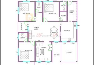 Kerala Style Home Plans and Elevations Kerala Style Single Storied House Plan and Its Elevation