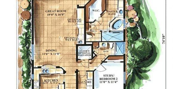 Key West Style Home Floor Plans Key West Style 66066gw 1st Floor Master Suite Cad