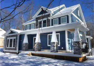 L Shaped Craftsman Home Plans Craftsman House Plan with L Shaped Porch 46301la