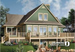 Lake Home Plans with Double Masters House Plan W3914a Detail From Drummondhouseplans Com