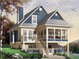 Lake House Plans for Sloping Lots Bordure De Lac Chalet Champetre Mediterraneen W4916a