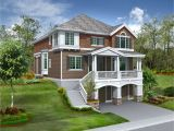 Lake House Plans for Sloping Lots Lake Home Plans Sloping Lot