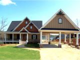 Lakefront Home Plans 3 Bedroom Open Floor Plan with Wraparound Porch and Basement