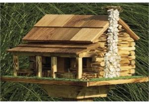 Large Bird House Plans Large Bird Feeder Plans Log Cabin Bird House Plans Log