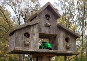 Large Bird House Plans Rustic Reclaimed Cedar Birdhouse Barn