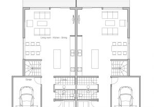 Large Duplex House Plans Duplex House Plan Oz66d with Garage and Large Covered