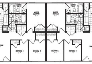 Large Duplex House Plans Duplex Model 3060