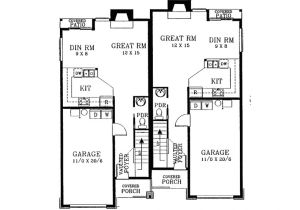 Large Duplex House Plans Eplans New American House Plan Narrow Lot Duplex Front