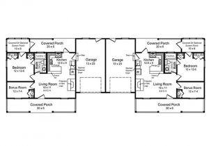 Large Duplex House Plans Multi Family Home Plans One Story Duplex House Plan