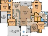 Large Family Home Floor Plans Awesome One Story Floor Plan A Interior Design