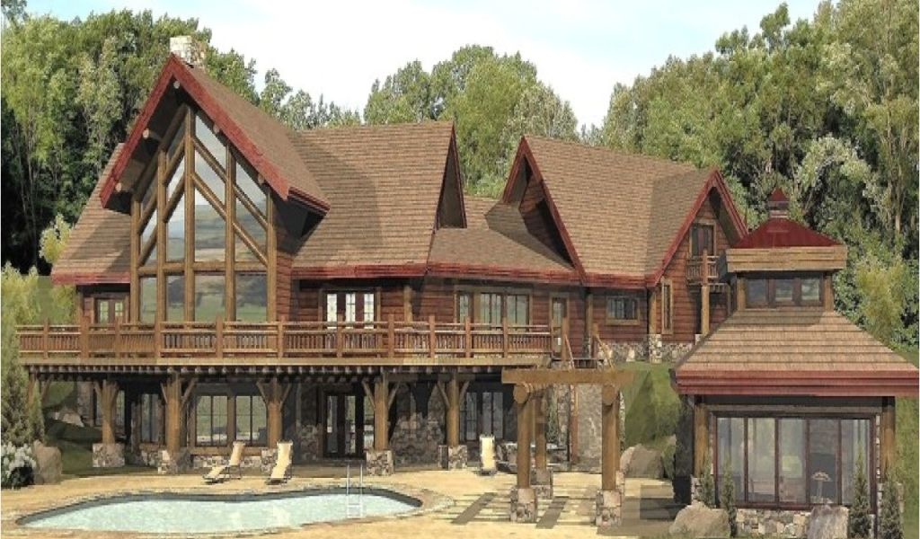Large Log Home Floor Plans | Large Log Home Plans Large Log Cabin Home Floor Plans Custom Log