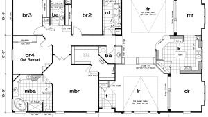 Large Modular Home Floor Plans Triple Wide Mobile Home Floor Plans Mobile Home Floor
