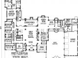 Large One Story Home Plan 8000 Square Foot House Floor Plans Large 6 Six Bedroom