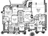 Large One Story Home Plan Sprawling One Story Charmer Hwbdo10218 French Country