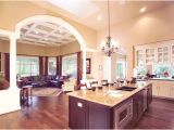 Large Open Floor Plan Homes One Story House Plans with Gourmet Kitchen Home Deco Plans
