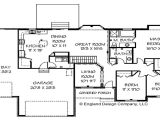 Large Ranch Home Plan Cape Cod House Ranch Style House Floor Plans with Basement