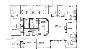 Large Ranch Home Plan Large Ranch House Plans Smalltowndjs Com