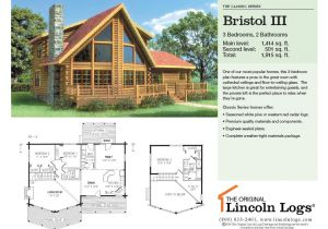 Lincoln Log Homes Floor Plans Log Home Floorplan Bristol Iii the original Lincoln Logs