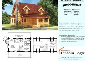 Lincoln Log Homes Floor Plans Log Home Floorplan Brookside I the original Lincoln Logs