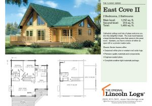 Lincoln Log Homes Floor Plans Log Home Floorplan East Cove Ii the original Lincoln Logs