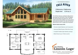 Lincoln Log Homes Floor Plans Log Home Floorplan Fall River the original Lincoln Logs
