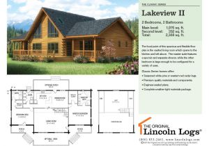 Lincoln Log Homes Floor Plans Log Home Floorplan Lakeview Ii the original Lincoln Logs