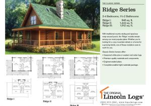 Lincoln Log Homes Floor Plans Log Home Floorplan Ridge Series the original Lincoln Logs