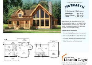 Lincoln Log Homes Floor Plans Log Home Floorplan Sun Valley Ii the original Lincoln Logs