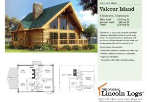 Lincoln Log Homes Floor Plans Log Home Floorplan Valcour island the original Lincoln Logs