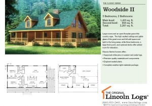 Lincoln Log Homes Floor Plans Log Home Floorplan Woodside Ii the original Lincoln Logs