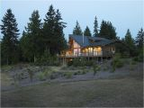 Lindal Log Home Plans View Side Of Prow On Lindal Cedar Home In Washington State