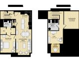 Loft Home Floor Plans Modern House Plans 2 Bedroom Loft Floor Plan Open Design