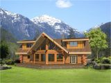 Log and Stone Home Plans Stone and Log Home Plans Log Home with Stone Accented Log